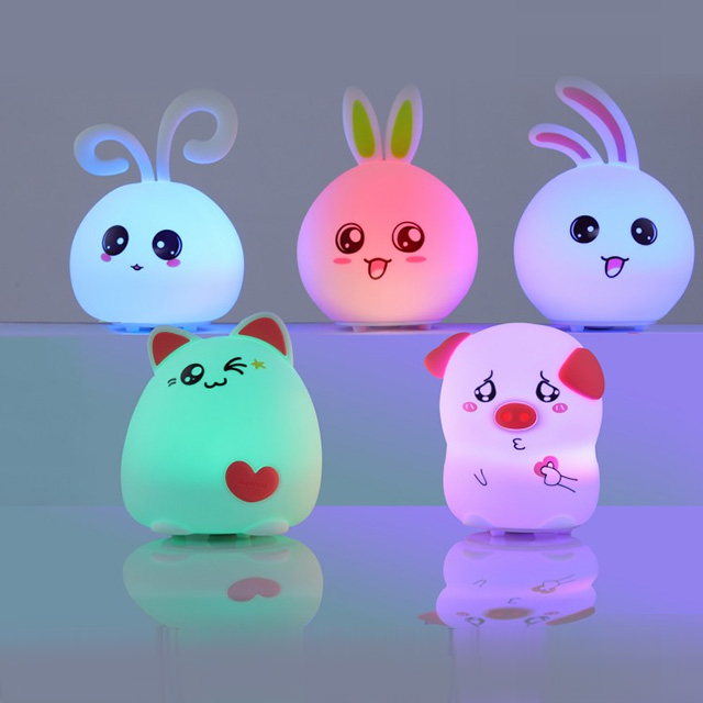 Silicone Touch Sensor LED Color Changing Lamps