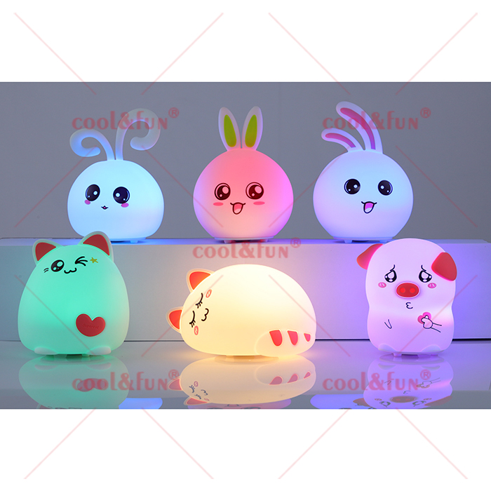 SENSITIVE COLOR CHANGING CARTOON SILICONE NIGHT LIGHT