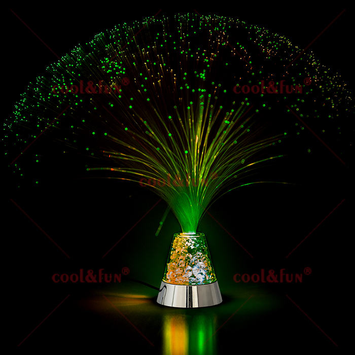 Fibre Optic Lamp with Ice